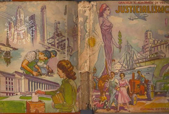 """El libro """"Justicialismo"""" de Graciela Albornoz de Videla publicado en el año 1953 por la Editorial Angel Estrada y Cia. hallamos la referencia sobre la construcción de un gasoducto."""