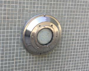 Sustitución alternativa de la placa led de una luminaria de piscina