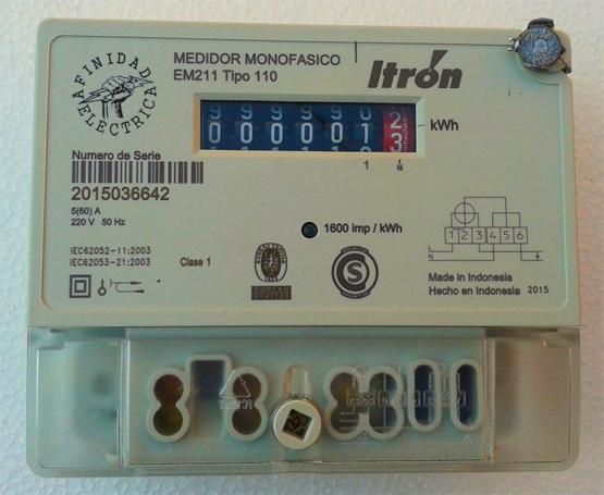 Los medidores híbridos electrónicos  con numerador o integrador mecánico generalmente se basan en un motor paso a paso para la rotación del disco o en bobinas solenoides que reciben los pulsos indicadores del consumo energético para activar un numerador electromecánico.